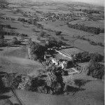 An aerial view of Oaklands and the Manor House.