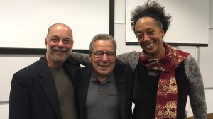 Reunited at University of Brighton! Len & Will were delighted to have Dr Yaa Asare in the audience. Yaa is the daughter of the long-time cook at the Pestalozzi Children's Village during the 1960s.